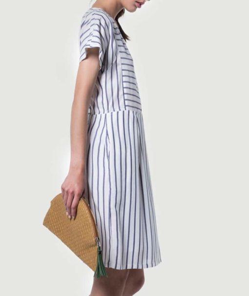 Φόρεμα ριγέ κοντό 002510a (2)
