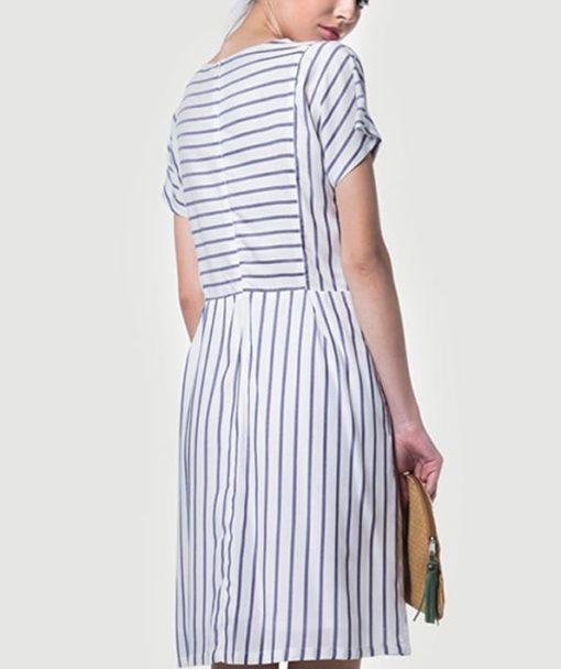 Φόρεμα ριγέ κοντό 002510a (3)