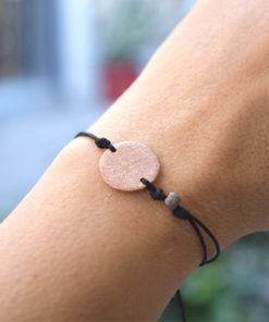 Pink Gold Plated Silver Circle Bracelet Tsaprali Artonomous 3