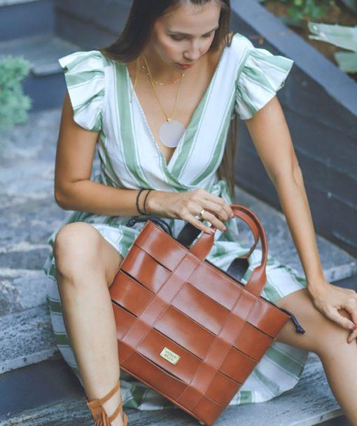 τσάντα γυναικεία Vasiliki Bellou