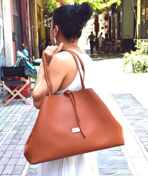 Τσάντα ώμου Shopping Bag Ταμπά 002467a (3)