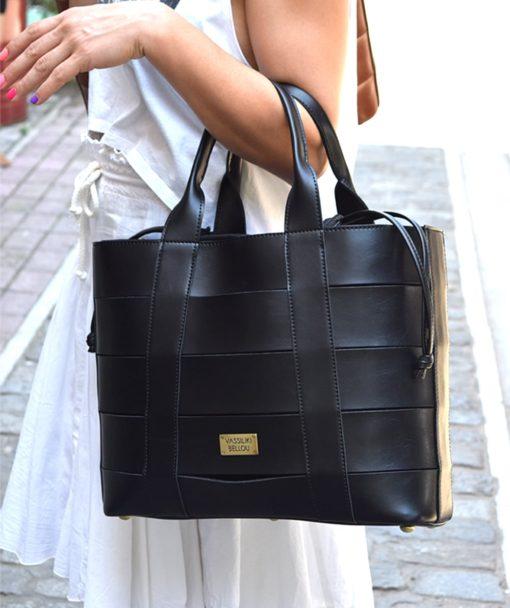 Τσάντα Shopper Μαύρο 002473a (2)