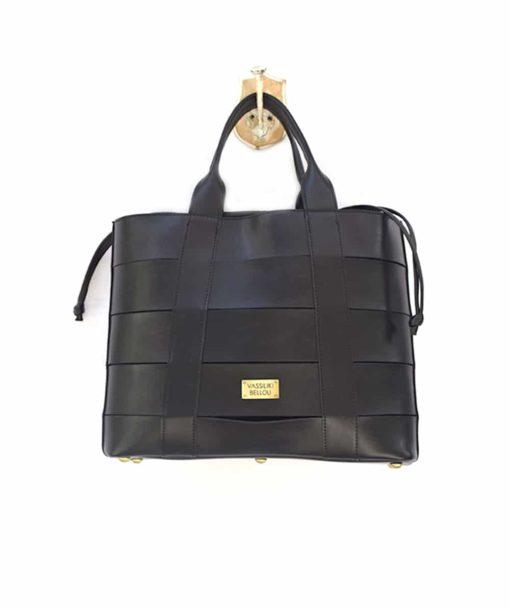 Τσάντα Shopper Μαύρο 002473a