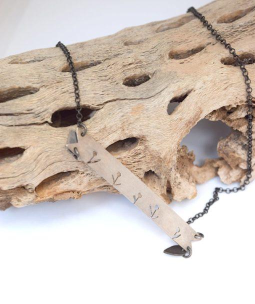 Ασημένιο κρεμαστό με λουλουδάκια ARTworks 002538a (2)