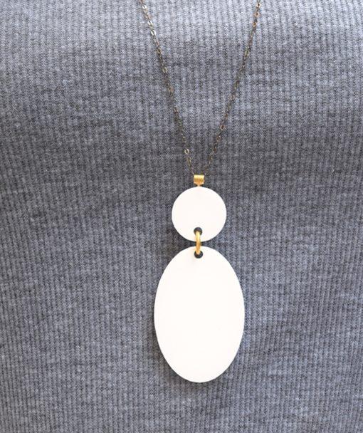 Μενταγιόν Λευκό με Plexiglas 002530a (3)