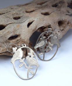 Σκουλαρίκια ασήμι πουλάκια 002546a (1)