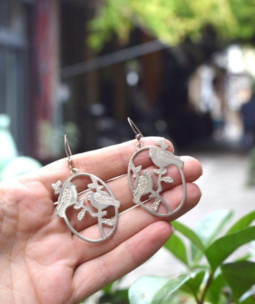 Σκουλαρίκια ασήμι πουλάκια 002546a (3)