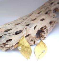 Σκουλαρίκια με μαργαριτάρι και Aquamarine 002542a (1)