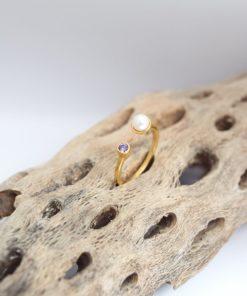Δαχτυλίδι ζιργκόν επίχρυσο Ahandmade Artonomous 1