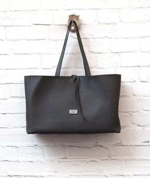 γυναικεία τσάντα Shoper γκρι Vasiliki Bellou Artonomous 1