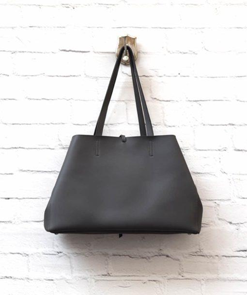 γυναικεία τσάντα Shoper γκρι Vasiliki Bellou Artonomous 4