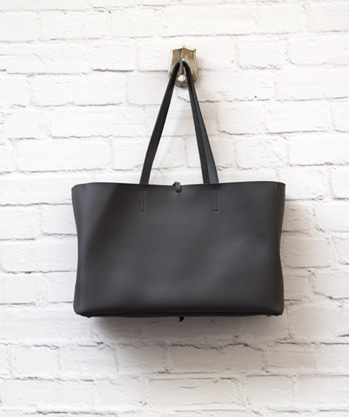 γυναικεία τσάντα Shoper γκρι Vasiliki Bellou Artonomous 5