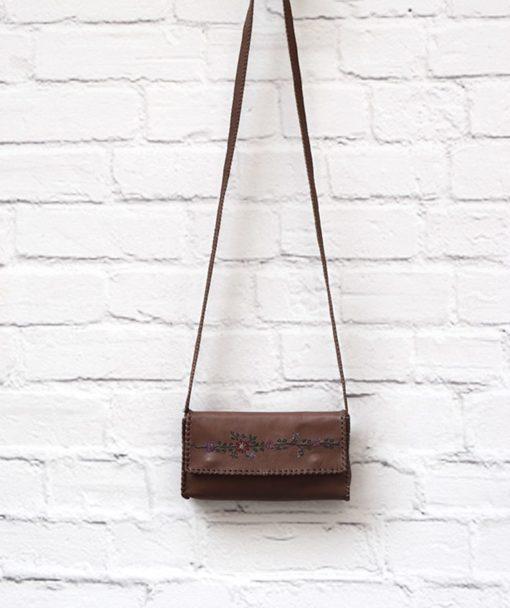 καφέ δερμάτινη τσάντα Artonomous 1