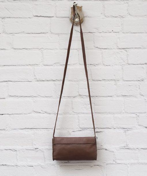 καφέ δερμάτινη τσάντα Artonomous 3