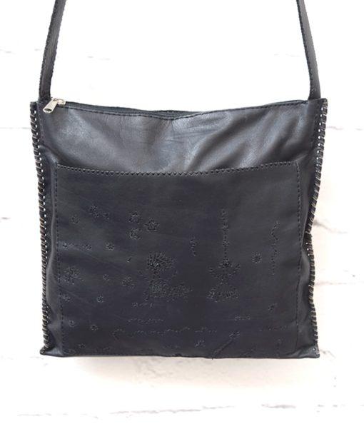μαύρη γυναικεία τσάντα δέρμα Artonomous 1