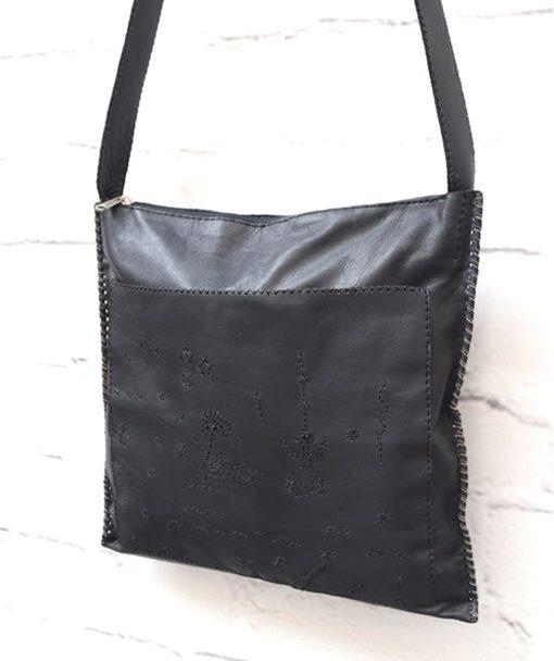 μαύρη γυναικεία τσάντα δέρμα Artonomous 2