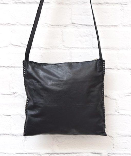 μαύρη γυναικεία τσάντα δέρμα Artonomous 3