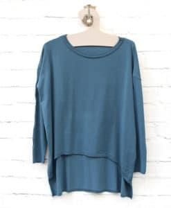 μπλε πλεκτή μπλούζα Artonomous 1
