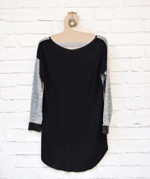 Μπλούζα πλεκτή Γκρι Μαύρο 0025580a (3)