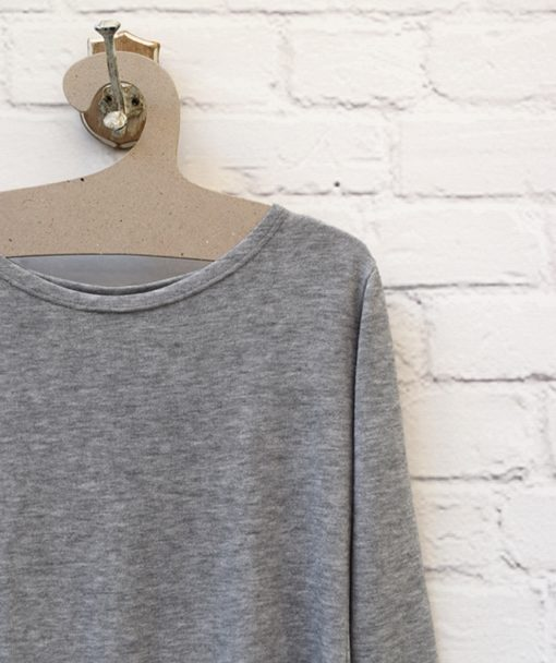 Μπλούζα πλεκτή Λευκό Γκρι 0025581a (2)