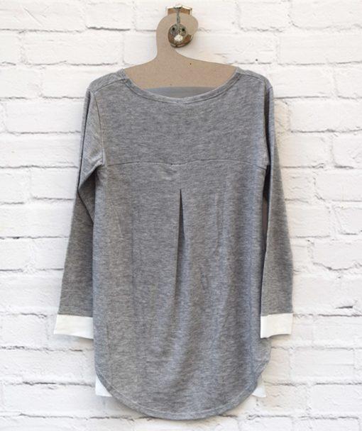 Μπλούζα πλεκτή Λευκό Γκρι 0025581a (3)