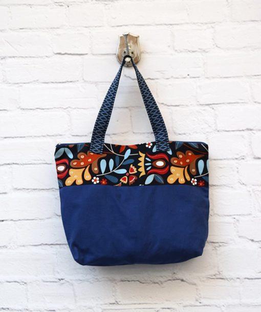 τσάντα Shopper ύφασμα μπλε Artonomous 1