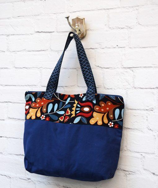τσάντα Shopper ύφασμα μπλε Artonomous 2