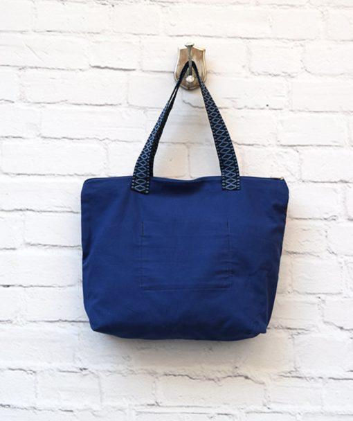 τσάντα Shopper ύφασμα μπλε Artonomous 3