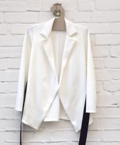 Ζακέτα Σακάκι Λευκό 0025578a (1)