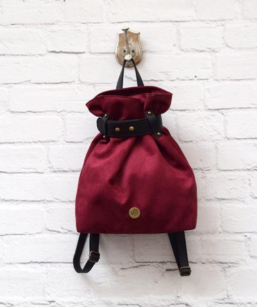 Backpack Burgundy Red Vasiliki Bellou Artonomous 1