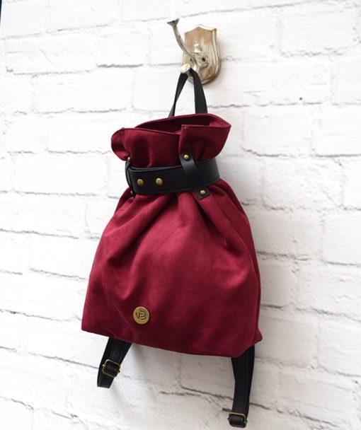 Backpack Burgundy Red Vasiliki Bellou Artonomous 2