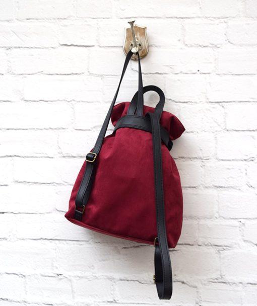 Backpack Burgundy Red Vasiliki Bellou Artonomous 3