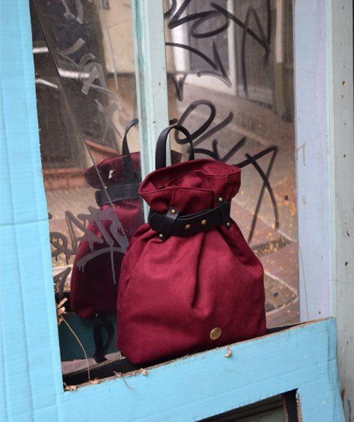Backpack Burgundy Red Vasiliki Bellou Artonomous 4