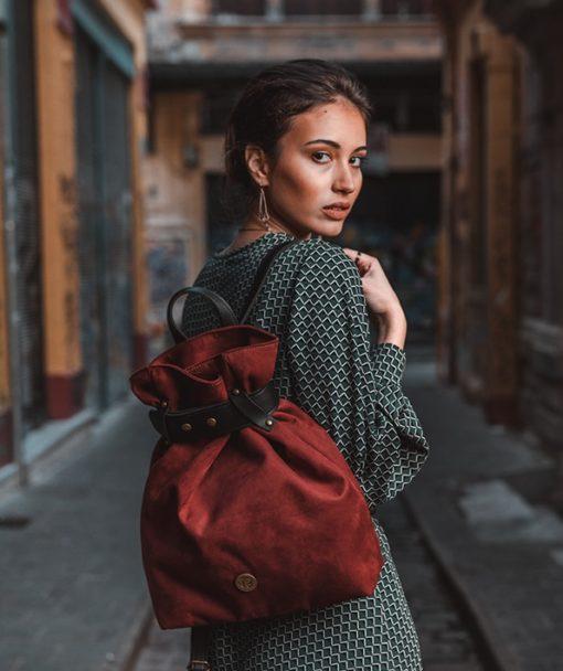Backpack Burgundy Red Vasiliki Bellou Artonomous 5