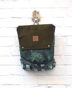 Backpack Olive Green Lazydayz Artonomous 1