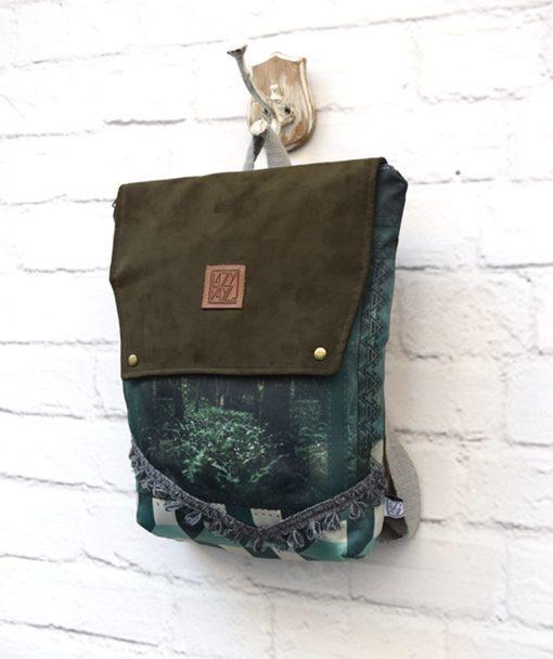 Backpack Olive Green Lazydayz Artonomous 2