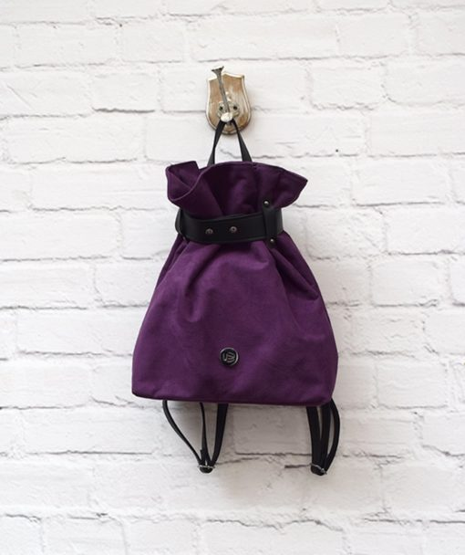 Backpack Purple Suede Vasilikibellou Artonomous 1