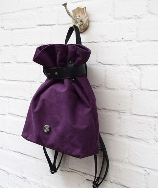 Backpack Purple Suede Vasilikibellou Artonomous 2