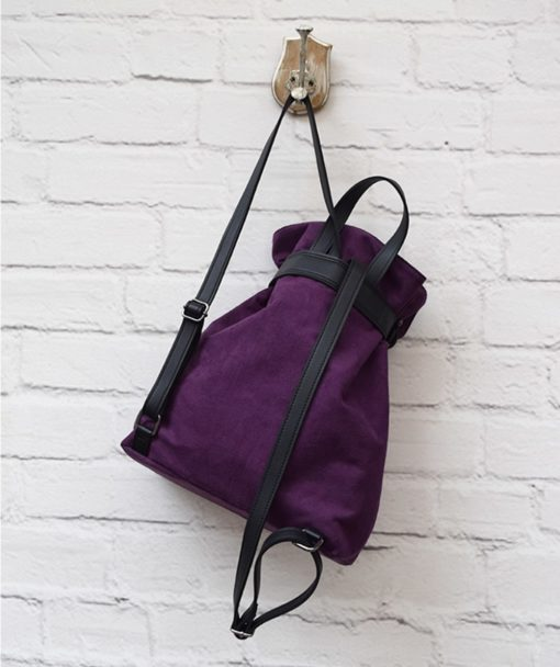 Backpack Purple Suede Vasilikibellou Artonomous 3