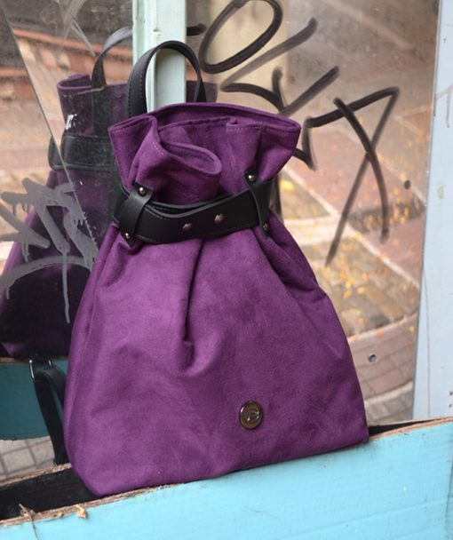 Backpack Purple Suede Vasilikibellou Artonomous 4