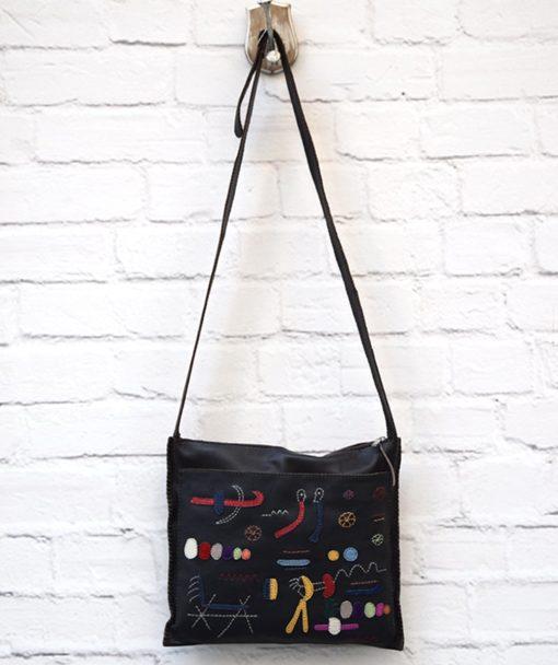χιαστί γυναικεία τσάντα καφέ Artonomous 1