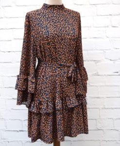 Φόρεμα ζωνάκι μουσταρδί Artonomous 1