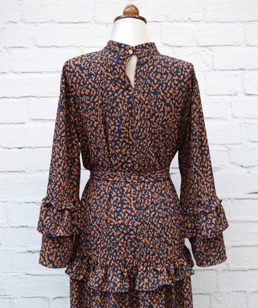 Φόρεμα ζωνάκι μουσταρδί Artonomous 4