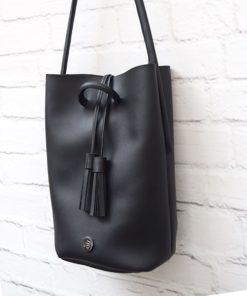 Τσάντα ώμου μεγάλη - Μαύρο