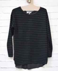 μπλούζα δίχρωμη πράσινη μαύρη Artonomous 1