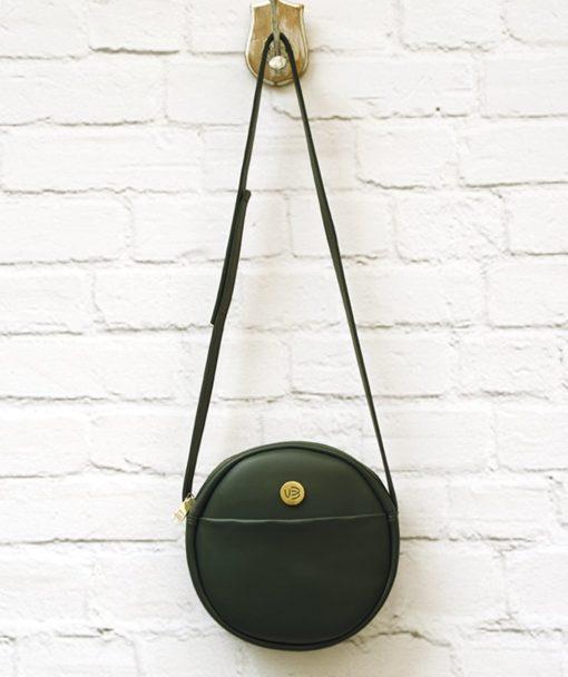 πράσινη χιαστό τσάντα στρόγγυλη Vasiliki Bellou Artonomous 1