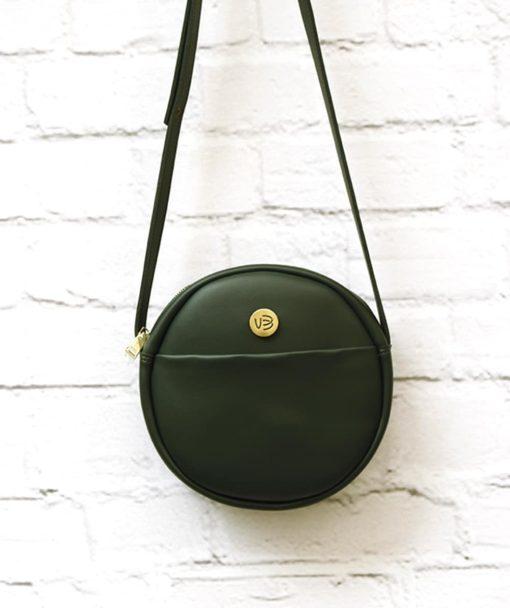 πράσινη χιαστό τσάντα στρόγγυλη Vasiliki Bellou Artonomous 2
