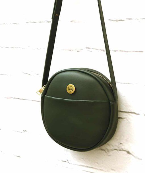 πράσινη χιαστό τσάντα στρόγγυλη Vasiliki Bellou Artonomous 3