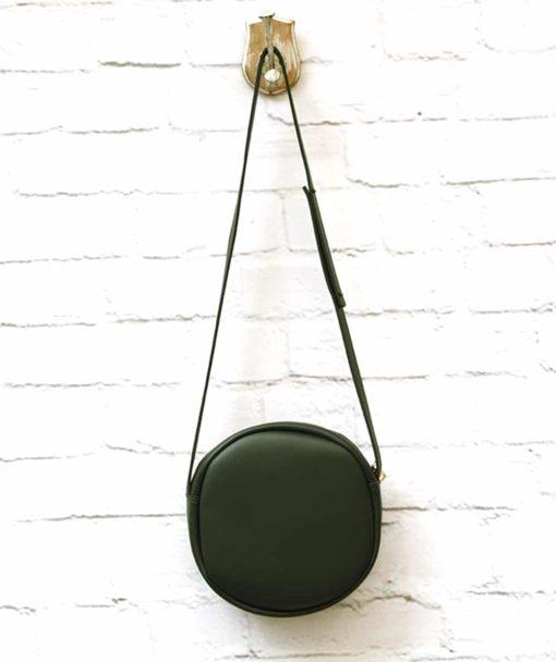 πράσινη χιαστό τσάντα στρόγγυλη Vasiliki Bellou Artonomous 4