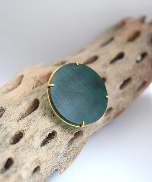 πράσινο δαχτυλίδι ασήμι Artonomous 1